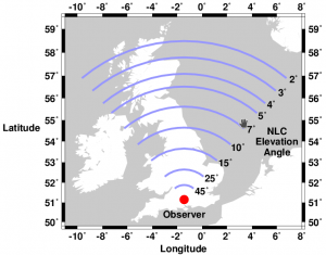 Map of potential NLC locations