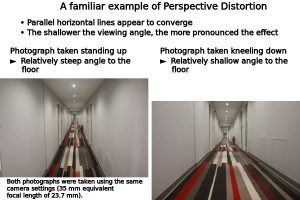 An illustration of perspective distortion on horizontal lines